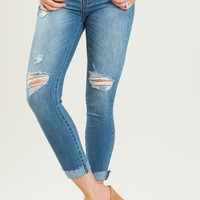 Leslie Cropped Frayed Jeans