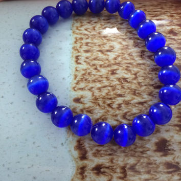 Royal Blue Beaded Bracelet