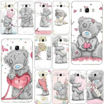 Hot Sale Teddy Me To You Bear style Mobile Phone Cases For Samsung Galaxy Note 2 3 4 5 8 S2 S3 S4 S5 Mini S6 S7 S8 S9 Edge Plus