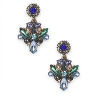 Sole Society Floral Statement Earrings