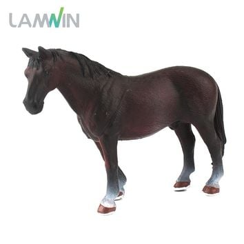 Lamwin Mini Hollow Type Plastic Farm Animal Toy Action Figure Simulation Horse Model Animation Figurine