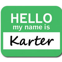 Karter Hello My Name Is Mouse Pad