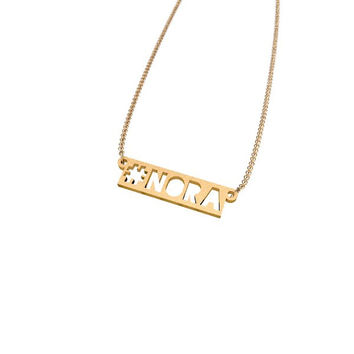 Personalized #Hashtag Name Necklace