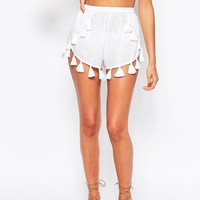 ASOS Fringed Tassle Beach Short Co- Ord at asos.com