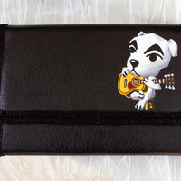 3DS XL Hard Case Hand Painted with Animal Crossing