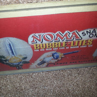 Vintage 40s-50s NOMA Snap-On Bubble Lites Display - Wall Decor - Wall Hanging