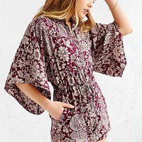 Band Of Gypsies Kimono Sleeve Drawstring Romper