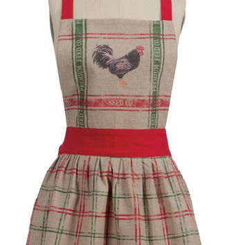 Apron - Vintage Home To Roost Rooster
