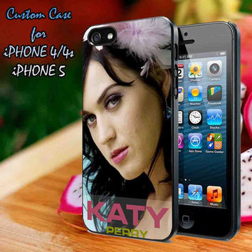 Katy Perry cute Beautiful Case-iPhone 4/4S Case, iPhone 5 Case cover Plastic