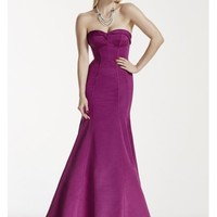 Strapless Faille Dress with Contoured Seam Detail - Davids Bridal