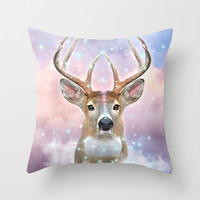 Dream By Day (Rain-deer Dreams ) Throw Pillow by soaring anchor designs ⚓