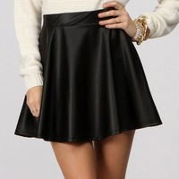 Sale- Black Add Some Edge Skater Skirt