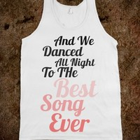 BEST SONG EVER One direction tank top