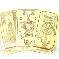 Complete deck 80s Vintage Tarot cards, Fortune telling
