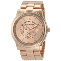 Vernier Women's VNR205 Round Rose-Tone Bracelet Quartz Watch - designer shoes, handbags, jewelry, watches, and fashion accessories | endless.com