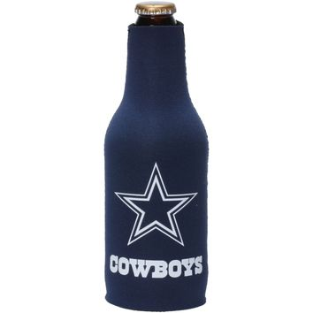 NFL Dallas Cowboys Blue Zip Up Beer Bottle Suit Insulator Holder Koozie Coozie