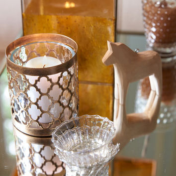 Quatrefoil Votive Candle Holder