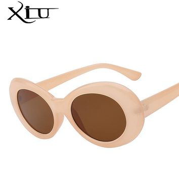 XIU Cateye Women Sunglasses Classic Retro Vintage Oval Sunglasses for Women Brand Designer Eeywear Top Quality UV400 Oculos