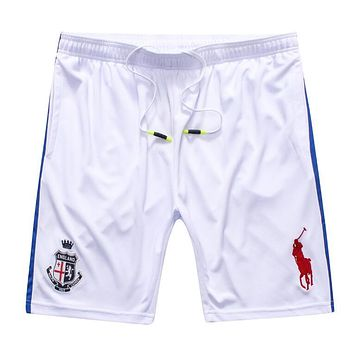 Polo Ralph Lauren Popular Embroidery Basketball Running Breathable Sports Shorts White I12670-1