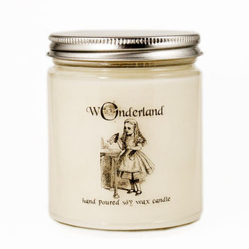 Drink Me Candle, Alice in Wonderland Candle, Custom Scented Candle, Alice in Wonderland Gift, Alice in Wonderland Scented Candle
