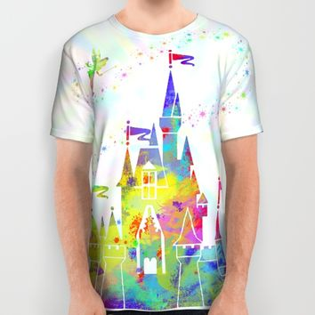 Castle of Magic Kingdom  All Over Print Shirt by Miss L In Art