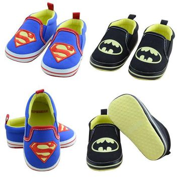 Infant Toddler Hero Boy Girl Sneaker Soft Baby Shoes Superman Batman = 1927879428