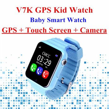 V7K Smart Baby phone Watch Kids GPS Smartwatch Touch Screen with Camera SOS Location Device Tracker Kid Safe Anti-Lost children