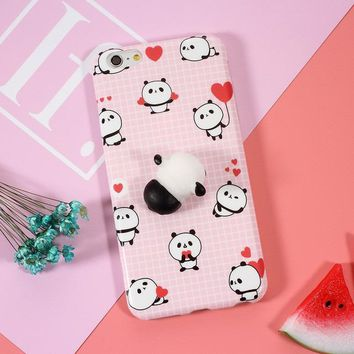 Squishy Phone Case Cute Panda For iPhone 5, 5s, SE, 6, 6s, 6 Plus, 6s Plus, 7, 7 Plus