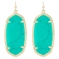 Kendra Scott Elle Earrings, Teal