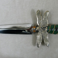 """Dragonfly Knife (green & black)&"" : Daggers by Omega Artworks"