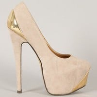 Liliana Lucile-1 Pointy Toe Platform Pump