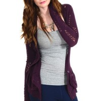 Kerisma Boyfriend's Cardigan in Purple