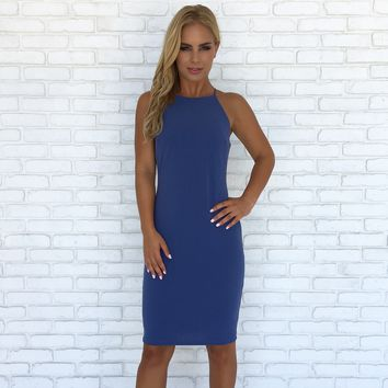 Blue Moon Nylon Midi Dress