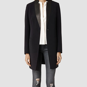 Womens Brix Lorie Coat (Ink) | ALLSAINTS.com