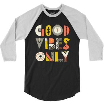 good vibes only 3/4 Sleeve Shirt