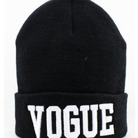 Trendy Vogue Beanie Hat Hip Hop Winter Fall Cold Weather Accessories
