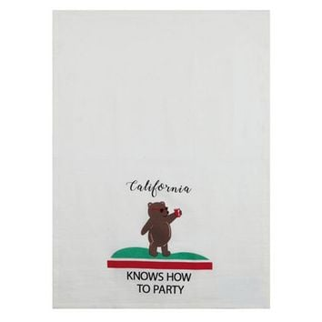 California Knows How to Party Dish Towel