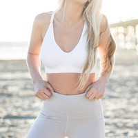 Julie Active White Cutout Sports Bra