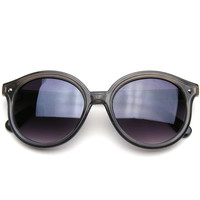 Vintage Inspired Super Round Mauve Color Cat Eye Indie Sunglasses