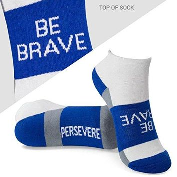 Inspirational Athletic Running Socks | Womens Woven Low Cut | Inspirational Slogans | Over 25 Styles