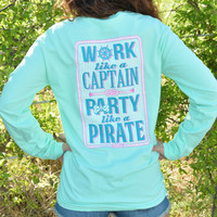 JADELYNN BROOKE PARTY LIKE A PIRATE TEE LS