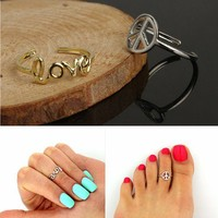LOVE letter symbols adjustable ring 15010118 by CHIQ CLUB