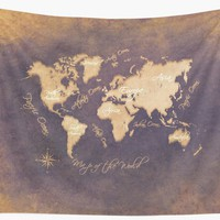 'world map 144 mistery #worldmap #map' Wall Tapestry by JBJart