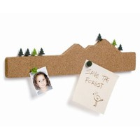 Memo Mountain Cork Board Memo Notepad Holder
