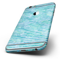 The Blue Watercolor Stripes Six-Piece Skin Kit for the iPhone 6/6s or 6/6s Plus