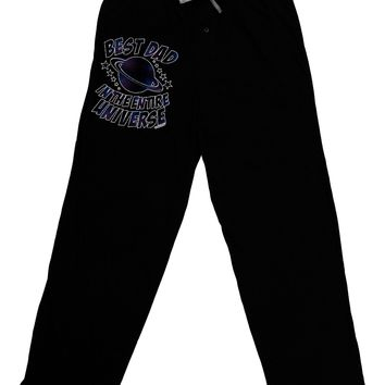Best Dad in the Entire Universe - Galaxy Print Adult Lounge Pants