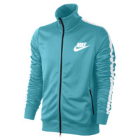 Nike Logo Men's Track Jacket Size Large (Blue)