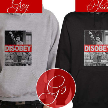 Disobey Hoodie Sweatshirt Sweater Shirt black and white Unisex