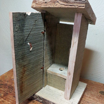 Rough Cut Ash Outhouse with curly moonface