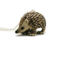 Hedgehog Necklace, Charm Necklace, Charm Jewelry, Hedgehog Pendant, Hedgehog Jewelry, Hedgehog Charm, Jewelry Gift, Wildlife Necklace